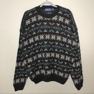 VTG Honors fair isles grandpa chucky knit sweater